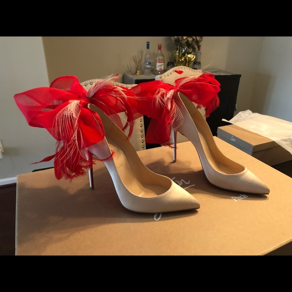 "CHRISTIAN LOUBOUTIN 100mm ""Plume Anemone"" 53670f98a2"